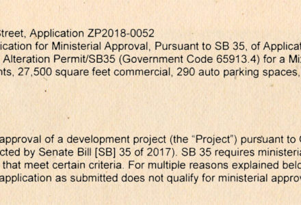 City of Berkeley Issues Final Rejection of SB-35 Development Application